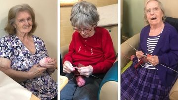 Knit and natter at Dukinfield care home