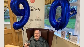 90th birthday celebrations at Poulton-le-Fylde care home