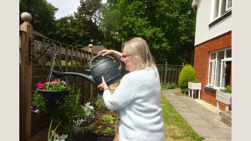 Honiton care home Residents enjoy gardening afternoons