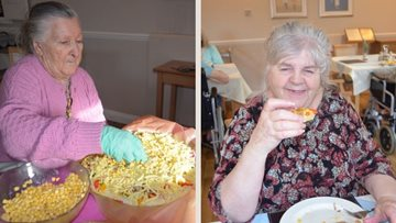 Hayes care home Residents get their chef hats on