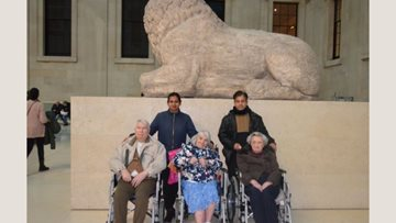 Hayes care home Residents enjoy British Museum trip