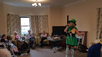 Irish music performed at The Willows for St Patrick's Day