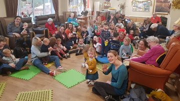 Willow Brook enjoys colourful day with The Rainbow Stripes