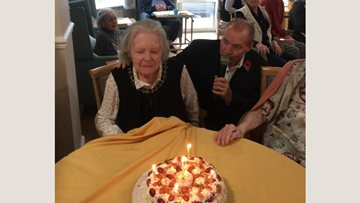 Birthday celebrations at Watford care home