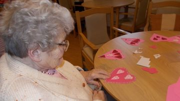 Durham care home Residents prepare for Valentine's Day