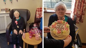 Former Olympic swimmer celebrates 103rd birthday at Coventry care home