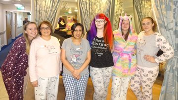 Pyjama day at Huddersfield care home is a fundraising success