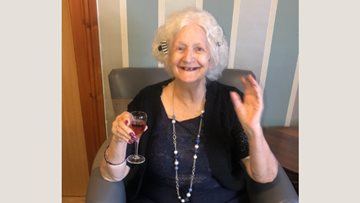 Celebrations are in full swing as Acacia Court Resident celebrates 78th birthday