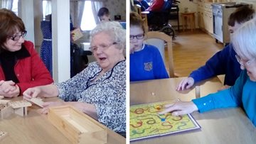 Games day for old and young at Coal care home