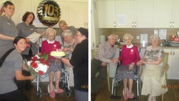 Stafford care home Resident celebrates milestone birthday