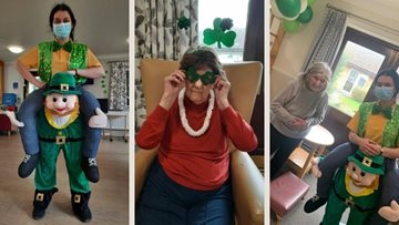 Southend-on-Sea care home Residents enjoy a tipple on St Patricks Day