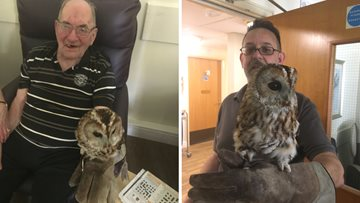 Burntwood Care Home welcome feathery friends