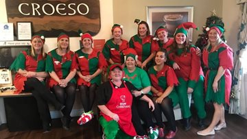 Bedwas care home supports Alzheimer's Society on Elf Day 2019