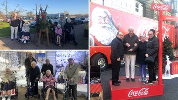 Holidays are coming! Residents enjoy a festive day out