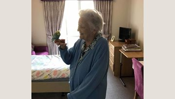 Whitley Bay care home welcomes feathered friend