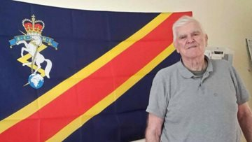 Former REME receives special gift