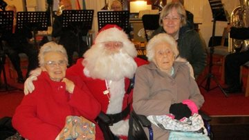 Bright lights of Christmas at Hinckley care home
