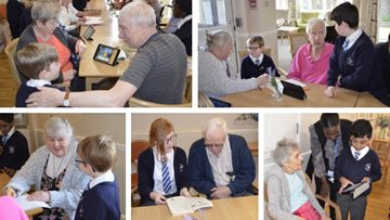 Intergenerational project at Hayes care home
